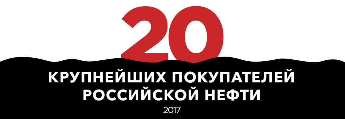 Рейтинг крупнейших покупателей российской нефти — 2017