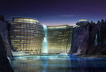 На дне. Миллиардер Сюй Жунмао поместил пятизвездный отель вглубокий карьер