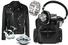 Косуха, Versace; браслет, Leatherman Tread; наушники, Master & Dynamic; рюкзак, Dior; запонки, Girard Perregaux