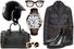 Шлем, BMW; очки, Kuboraum; куртка, Moncler; сумка, Burberry; часы, Drive de Cartier; запонки, Chopard; челси, Givenchy