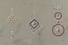 Эскиз бриллиантовых подвесок с цветными камнями и эмалью. Дом Фаберже. Москва, 1900-е. Картон, гуашь