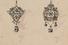 Эскиз золотых подвесок с бриллиантами. Дом Фаберже. Москва, 1900-е. Картон, гуашь