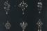 Эскиз подвесок с черным жемчугом, бриллиантами и рубинами. Дом Фаберже. Москва, 1900-е. Картон, гуашь