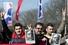 Акция протеста в Ганновере