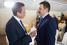 Президент — председатель правления Банка Москвы Михаил Кузовлев (№6 в рейтинге 25 самых дорогих топ-менеджеров России по версии Forbes, компенсация $15 млн) (справа)