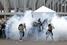 Полицейские применили слезоточивый газ для разгона акции у стадиона Mane Garrincha в Бразилиа