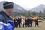 Делегация чиновников во главе с министром иностранных дел Германии Франком-Вальтером Штайнмайером и министром транспорта Испании Аной Пастор Джулиан на месте крушения