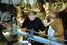 Алексей Герман-старший и Леонид Ярмольник в павильоне «Ленфильма» на съемка фильма «История Арканарской резни»