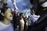 Протестующие и полицейские в Бразилиа