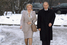 Владимир и Людмила Путины идут голосовать на выборах депутатов в Госдуму и мэра Москвы, 2003 год