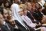Патриарх Кирилл, Светлана Медведева, Наина Ельцина, Владимир Путин и Людмила Путина на концерте в Большом театре, 2011 год