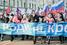 Колонна участников шествия на Тверской улице