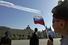 Завершил парад строй истребителей с шлейфом, окрашенным в цвета российского флага