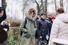 Марианна Шульц, Елизавета Боярская, Александр Новин и Наталья Павленкова на эскурсии в усадьбе