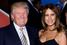 Американский миллиардер Дональд Трамп и модель Мелания Кнаусс