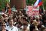 Участники митинга заполнили всю Суворовскую площадь