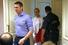 Алексей Навальный пришел на процесс с супругой Юлией