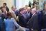 Председатель правления ОАО «Газпром» Алексей Миллер (по центру)