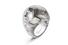 Кольцо Boule, белое золото, бриллианты, титан, кохалонг
