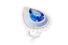 Кольцо Dôme Grapique, белое золото, танзанит, бриллианты, голубой халцедон, жемчуг Акойа  7. Брошь Branche, белое золото, бриллианты, эбеновое дерево