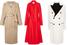 Пальто верблюжьего цвета, Max Mara; красное пальто, Jason Wu; белое пальто, Dolce & Gabbana