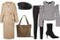 Пальто, Max Mara; картуз из кожи, Eugenia Kim; брюки, Saint Laurent; топ, Monse; сумка, The Row; ботильоны,  Stuart Weitzman