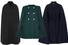 Черный кейп, Bottega Veneta; зеленый кейп, Chloé; темно-синий кейп, J.Crew