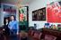 Витраж из венецианского стекла; Пьер и Жиль. Автопортрет в образе президента— Жиль. 2007; Пьер и Жиль. Автопортрет в образе президента — Пьер. 2007; муранское стекло; Эрик Булатов. Лувр. Джоконда. 1997–1998, 2004