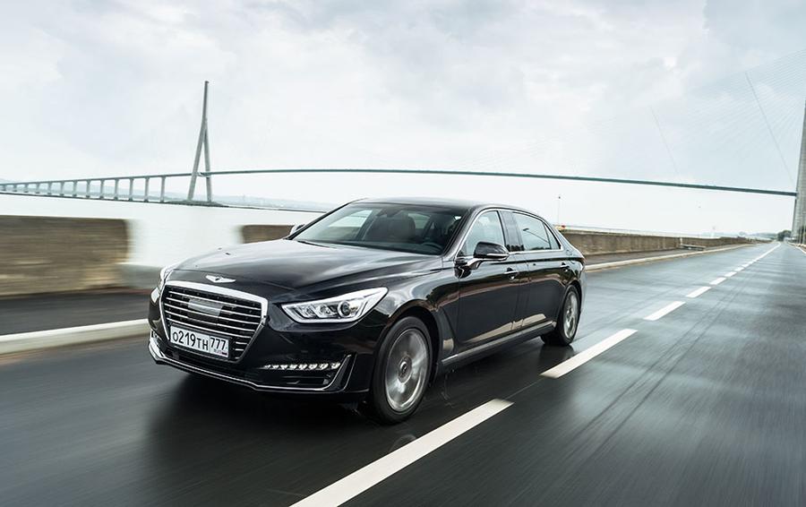 Hyundai запустил премиальный бренд тест драйв Genesis G90 отвечает