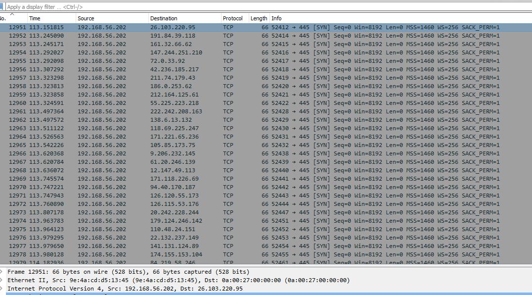 список IP адресов, которые сканирует вирус со скоростью 50 000 000 IP в минуту