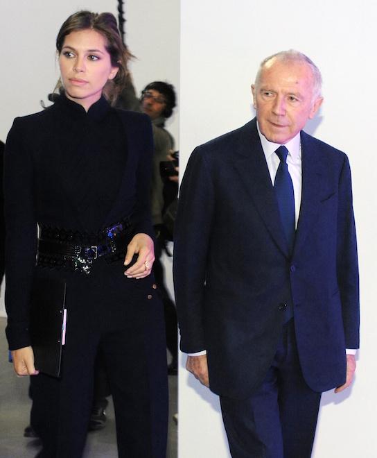 Франсуа Пино и Дарья Жукова на выставке в Центре современной культуры «Гараж» в Москве