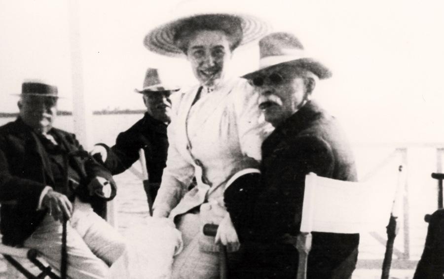 Генри Флаглер с супругой Элис, после смерти которой он женился на Мэри Лили