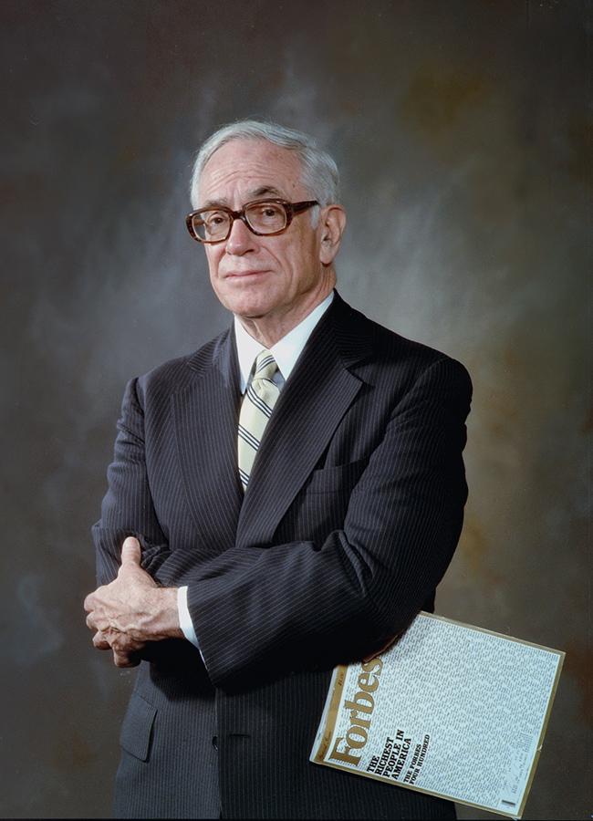 Наследник Берти Ч. Форбса и многолетний издатель журнала Forbes Малькольм Стивенсон Форбс (1919 — 1990). Нью-Йорк, 1987 год