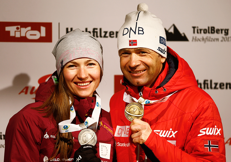 Уле-Эйнар Бьорндален и Дарья Домрачева – самая титулованная семейная пара Олимпиад, 17 медалей на двоих