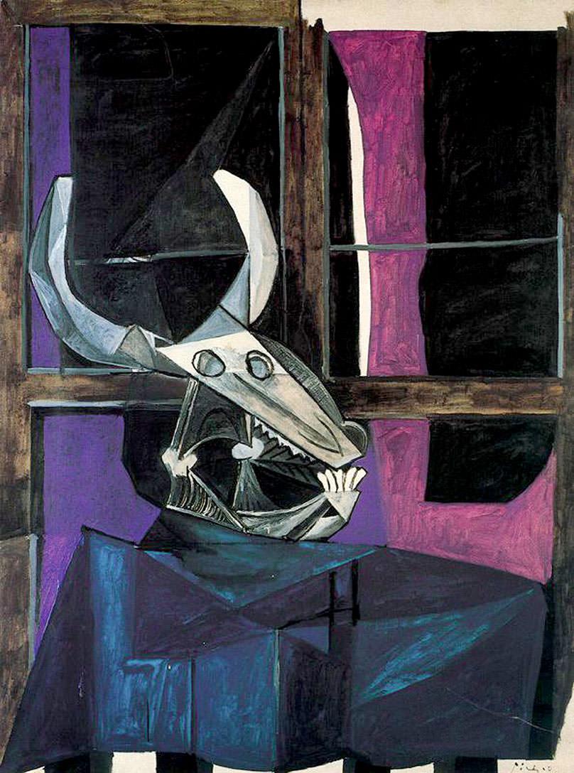 «Натюрморт с черепом быка» Пабло Пикассо