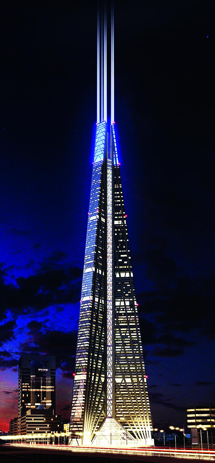 Спроектированный Норманом Фостером 600-метровый небоскреб «Россия» Надер назвал «башней гигантских размеров с непо- нятной экономикой»