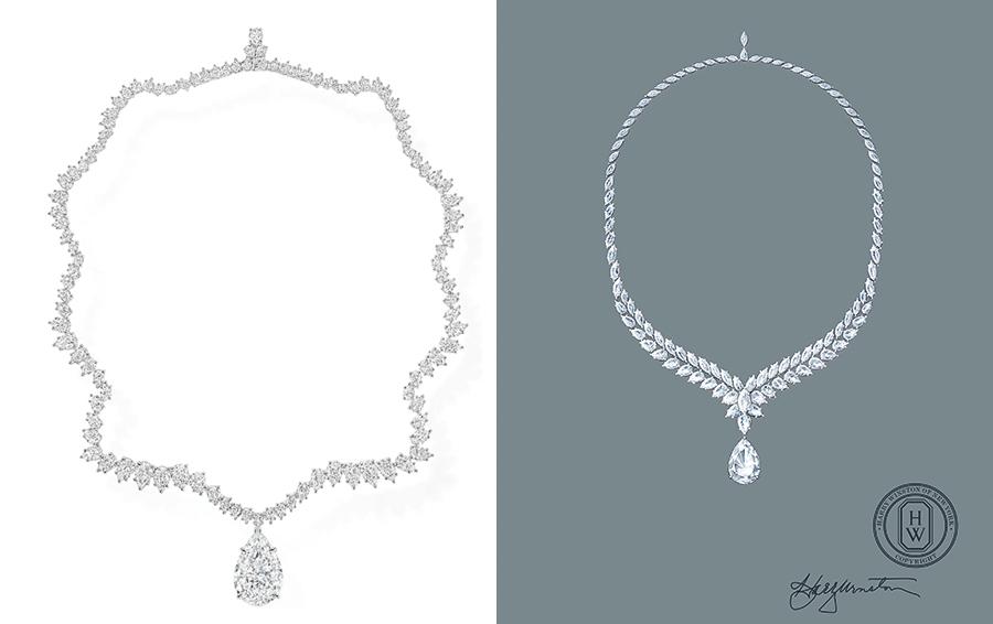 Колье из платины и бриллиантов, все из коллекции Legacy by Harry Winston