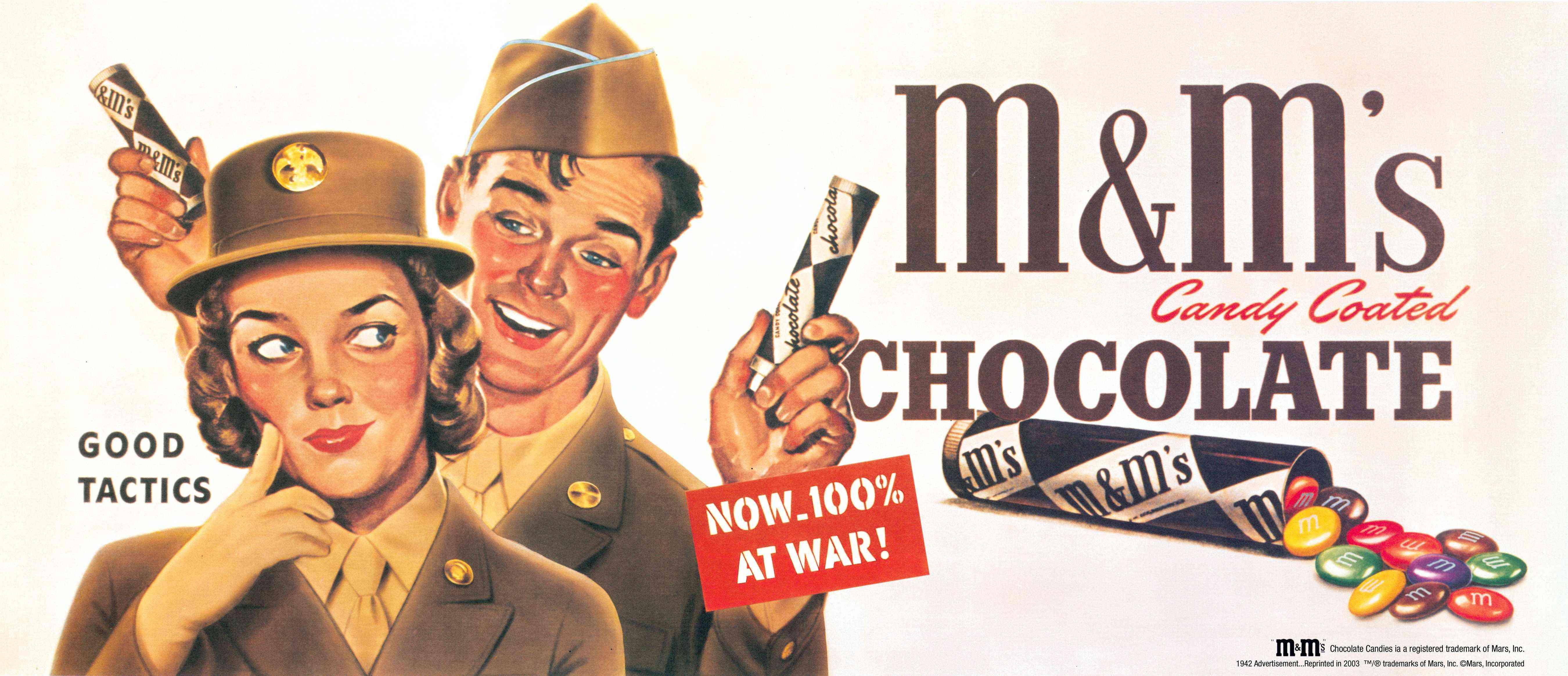 M&M's появился благодаря кооперации двух конкурентов — Mars и Hershey