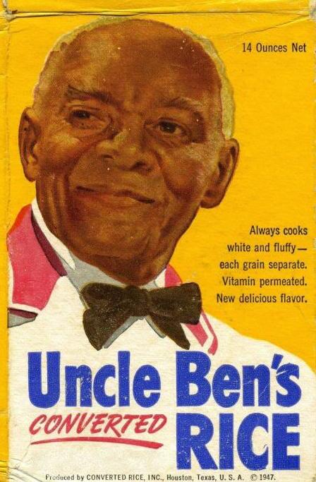 Изображение «дяди Бена» появилось на упаковках пропаренного риса в 1946 году