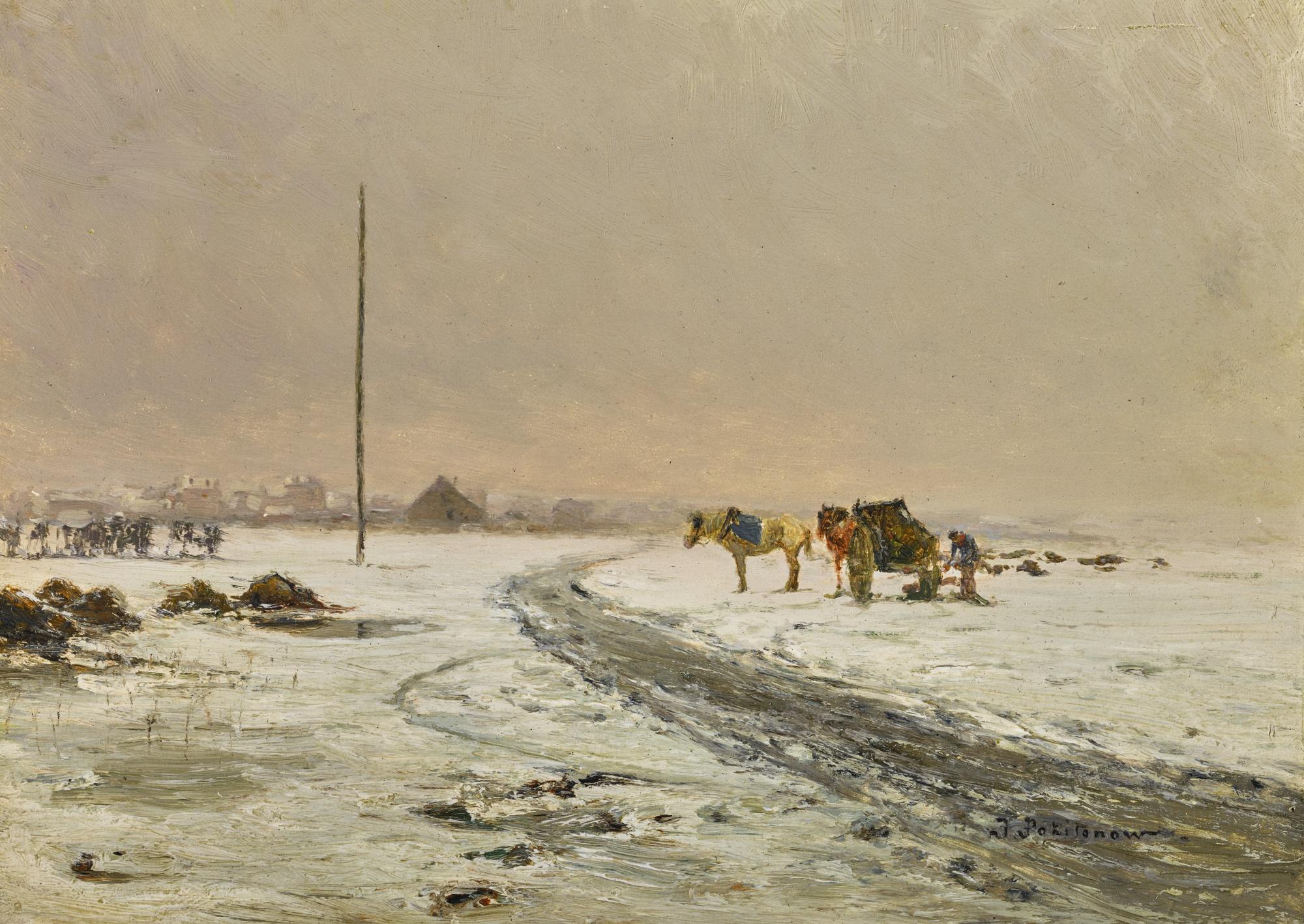 Ivan Pavlovich Pokhitonov 1850-1923 SNOW, BRESSOUX