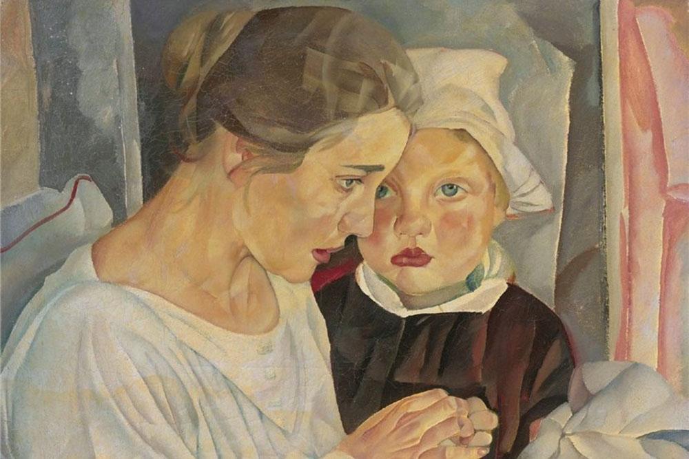 Григорьев Б.Д. Мать и дитя, 1918 Эритаж