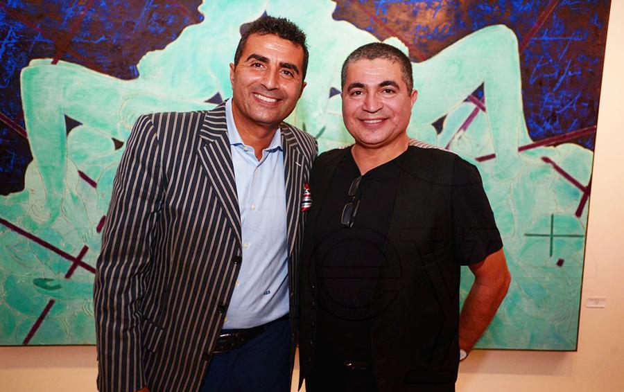 Альхаил Байнбайн (слева) с братом Махи, известным художником