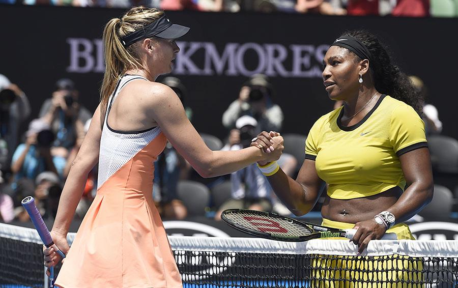 Последний матч до дисквалификации – четвертьфинал Australian Open 26 января 2016 года – Мария Шарапова проиграла Серене Уильямс. Теперь Мария возвращается на корт, а Серена уходит – в декрет