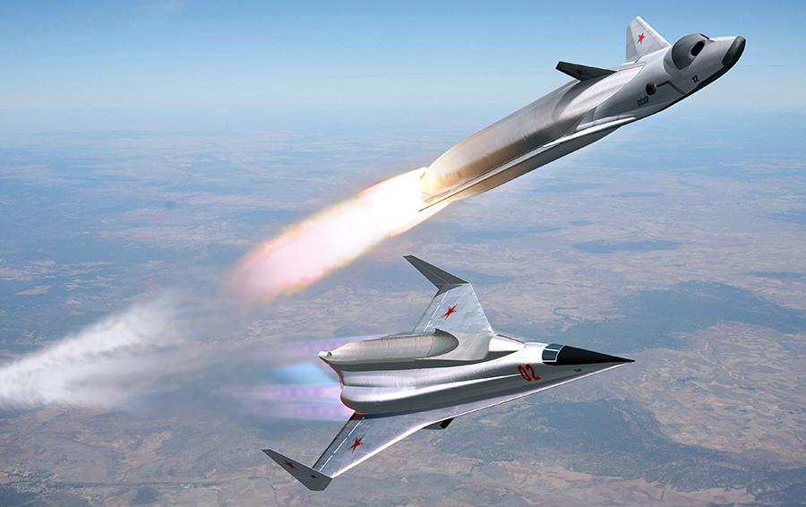 Система «Спираль», воздушный старт системы/Графика Вадима Лукашевича