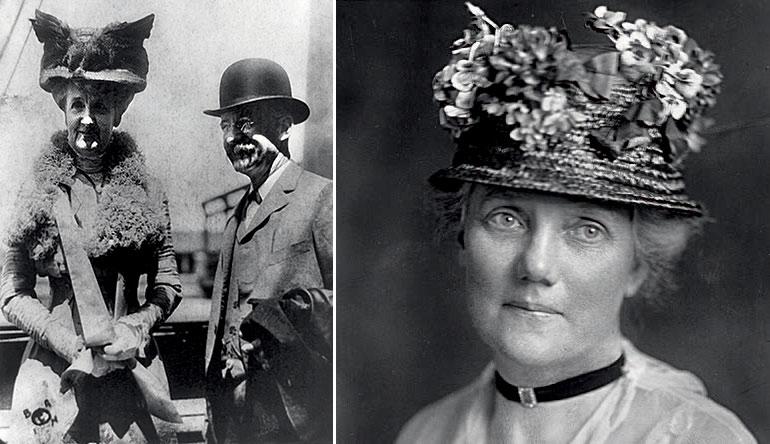 Миссис Эдвард Г. Гарриман, (слева) №12 в первом списке богатейших 1918 года ($80 млн). Миссис Лоуренс Льюис, №29 в первом списке богатейших 1918 года ($50 млн).