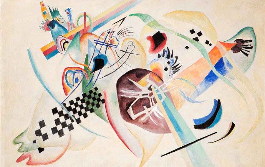 Wassily Kandinsky, Su bianco (I), olio su tela, 1920