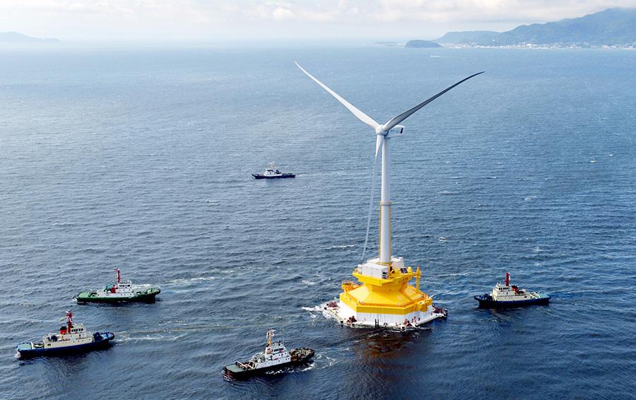 Первая ветровая станция на воде в Шотландии