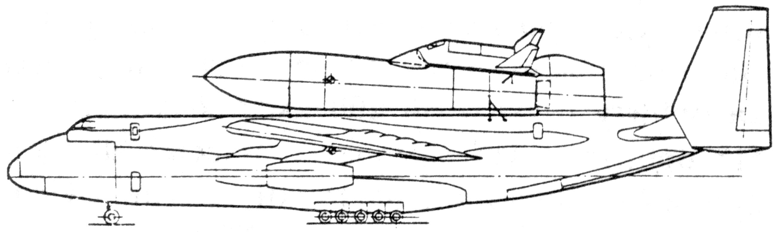Авиационно-космическая система «49» с самолетом-носителем Ан-124КТ «Руслан»/Рисунок Вадима Лукашевича