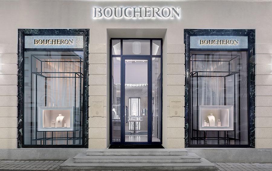 Фасад бутика Boucheron в Москве