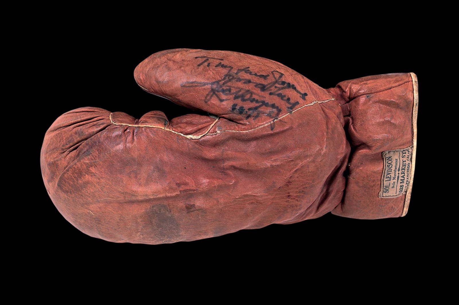 Боевые перчатки Джека Демпси 1927 года